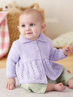 Design from Sirdar Supersoft Aran (517) - This gorgeous book is full of the cutest designs for baby boys and girls from 0 to 2 years. Designs include little knits with the cables and bobbles that you would expect from a traditional Aran knit, as well as those with pretty lace details and textures | English Yarns
