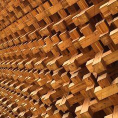 #Japanesepavilion #expo2015 #timbercrosses #timber #expodetail
