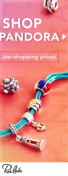 Find all your favorite PANDORA pieces at WOW prices. Only on Rue La La. Only for the next 48 hours. So shop it up. Pandora Beads, Pandora Bracelets, Pandora Jewelry, Pandora Charms, I Love Jewelry, Jewelry Art, Beaded Jewelry, Jewelry Design, Jewelry Making