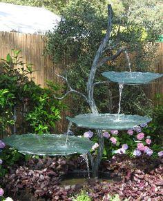 Superieur Solar Powered Flower On Pillar Water Feature | Water Features, Solar And  Water