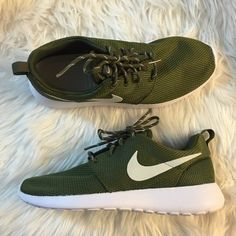 Women's Nike Roshe Olive Mesh Brand new with original box but no lid. Nike Shoes Athletic Shoes