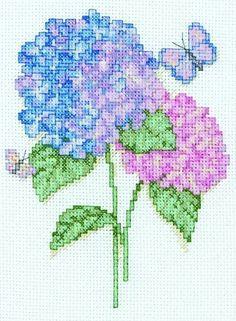Hydrangeas Mini - Cross Stitch Kit