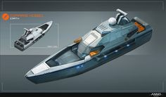 Two Concepts for Anno The task was to design a command vessel. The first concept I made was too military at the end, so I've made another one, that is more like an sports boat. Concept Ships, Concept Art, Camper Boat, Rc Tank, Sport Boats, Expedition Vehicle, Military Gear, Armada, Super Yachts