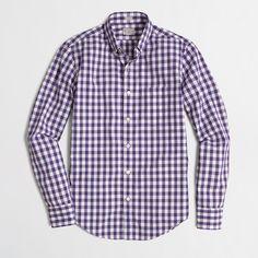 Factory slim washed shirt : Slim Shirts | J.Crew Factory