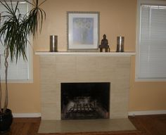 Amazing Gas Fireplace Mantel Ideas to Warm Your Winter Time: Modern Minimalist Gas Fireplace Mantels With Ceramic Hearth Extension Ideas Simple Design Between Two White Framed Glass Windows