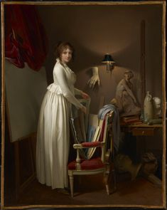 1799 The Athenaeum - The Artist's Wife in His Studio (Louis-Léopold Boilly - )
