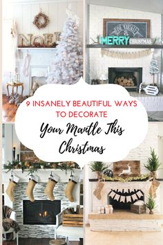 Christmas, Christmas decor, Decorate Your Mantle, Christmas mantle, DIY, holiday decor, popular pin