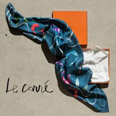 Hermès scarf, Hermès box, silk Hermès carré / Garance Doré