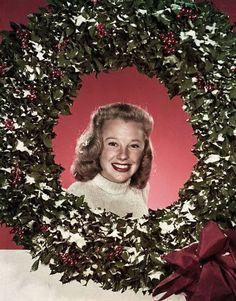 A June Allyson Christmas wreath