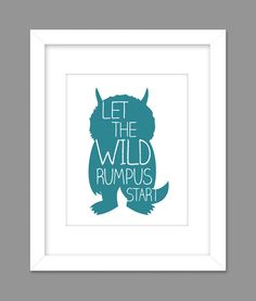 Digital Download  Where the Wild Things Are Nursery Art kids, Let The Wild Rumpus Start - 8x10 or 11x14 on Etsy, $6.49 AUD