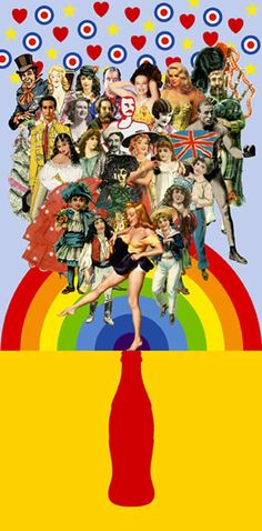 Summer Days - collage by Peter Blake, 2007 Cultura Pop, Photomontage, Pablo Picasso, Peter Blake Artist, Collages, James Rosenquist, Pop Art Collage, Collage Artists, Pin Up
