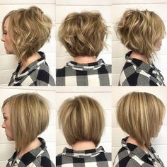 Bob, lob, whatever you wanna call it I LOVE IT. This undercut bob with some highlights and a cool all over color is getting me pumped for my 13hr day in the salon. This look from the weekend was achieved  using #wellablondor and 20vol and lots of cutting and texturizing. Flat iron curls for the look on the top is my personal fave. 🏆 #behindthechair #shorthair #bob #lob #hair #undercut #flatironcurls #wella #haircut #hairstyle #hairstylist #hairinspo #hairinspiration #highlights…