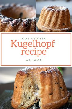 This kugelhopf recipe from alsace is a traditional cake from the East of France. Similar to a brioche with raisins and almonds. Magic Cake Recipes, French Dessert Recipes, Great Desserts, Sweet Recipes, Traditional French Recipes, Traditional Cakes, Kugelhopf Recipe, Banana Layer Cake Recipe, Raisin Cake