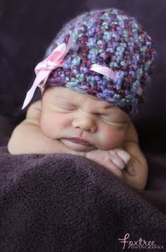 Bulky Crochet baby hat