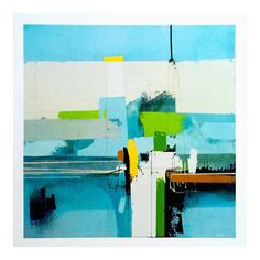 """Andrew Bird Modernist Abstract Expressionist Fine Art Print """" Spring Forward """""""