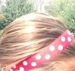 One Up Red with White Polka Dots Non Slip Headband