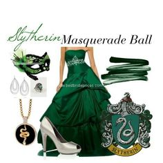 """""""Slytherin: Masquerade Ball"""" The outfit. But the Harry Potter theme? Slytherin: Masquerade Ball The outfit. But the Harry Potter theme? Mode Harry Potter, Harry Potter Dress, Harry Potter Style, Harry Potter Outfits, Masquerade Outfit, Masquerade Ball Gowns, Masquerade Party, Venetian Masquerade, Masquerade Masks"""