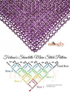 Knitting Patterns Scarves How To Crochet Shawl Crochet Diagram, Crochet Chart, Crochet Motif, Crochet Lace, Crochet Granny, Hand Crochet, Free Crochet, Crochet Shawls And Wraps, Crochet Scarves