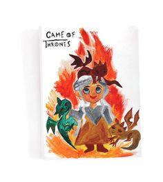 Acrylic Khaleesi with dragons painting.Game of Thrones Flames painting.Cool gift idea for kids.Mother of dragons. Wood Canvas, Canvas Frame, Cool Paintings, Paintings For Sale, Khaleesi, Daenerys, Game Of Thrones Fans, Mother Of Dragons, Paint Finishes