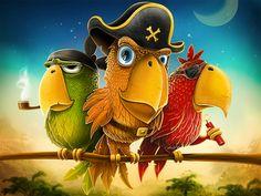 Bird/Parrot Illustration Design