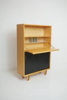 Birch Series Secretaire - Netherlands 1950's  | Designer: Cees Braakman for UMS Pastoe