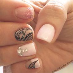 Lace nail art design