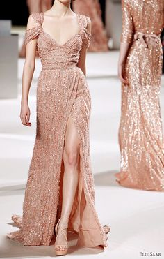 Elie Saab beaded gown - love the blush colour.