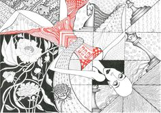 Chess, red, female, graphics Black And White Drawing, My Black, Chess, Lady In Red, Graphics, Female, Drawings, Art, Gingham