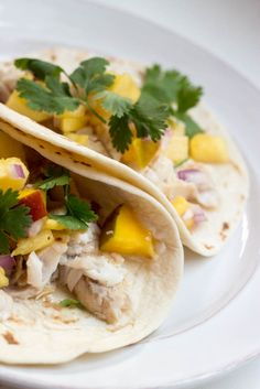 Grilled Fish Tacos with Pineapple Salsa // A light and easy dinner idea for summer!
