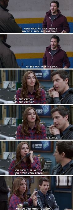21 Times 'Brooklyn Nine Nine' Got Us Chuckling All hail NBC for saving Brooklyn Nine Nine! While we wait for the police comedy's sixth season, let's enjoy this solid dump of funny moments from our favorite precinct of misfits. Brooklyn Nine Nine Funny, Brooklyn 9 9, Brooklyn 99 Season 2, Best Tv Shows, Best Shows Ever, Favorite Tv Shows, Netflix, Detective, Jake And Amy