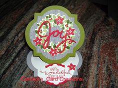 Carolyn's Card Creations: Wonderous Wreath Joy Easel Card