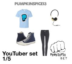 """Pewdiepie set"" by pumpkinspice137 ❤ liked on Polyvore featuring Wallis, Frends and Converse"