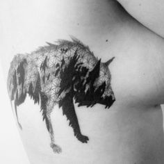 Lobo   50 tatuajes hechos con puntos que son realmente impresionantes