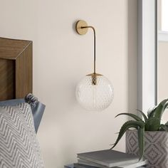 Mistana Marcellus Armed Sconce Finish: Polished Chrome, Shade Colour: Bronze, Size: H X W X D Barn Lighting, Wall Sconce Lighting, Wall Sconces, Eclectic Modern, Modern Rustic Interiors, Bed Lights, Wall Lights, Candelabra Bulbs, Appliques