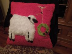 needle felted Christmas pillow 2014