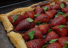 Simple Strawberry Balsamic Tart