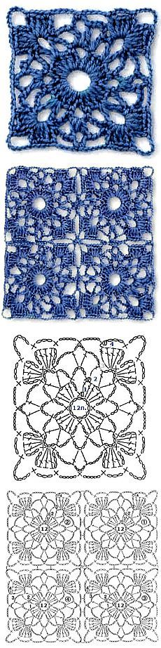 pretty crochet lace block