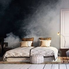 sleeping in the fog Scandinavian - Bedroom - Abstraction - Wall Murals Pixers We live to change Bedroom Murals, Home Decor Bedroom, Modern Bedroom, Bedroom Ideas, Bedroom Wall Designs, Living Room Murals, Bedroom Furniture, Contemporary Bedroom, Bedroom Wall Ideas For Adults