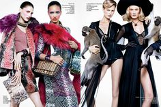 Sharif Hamza Snaps Model Duos for V Magazines Double Vision Spread