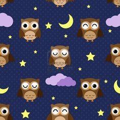 owl patterned wallpaper