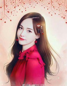 Beautiful Anime Girl, Beautiful Asian Women, Japanese Drawings, Anime Art Fantasy, Beautiful Series, Cute Girl Wallpaper, Painting Of Girl, Korean Art, Star Art