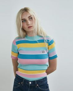 Lazy Oaf Rainbow Knitted T-shirt