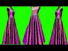 Box Pleats Long Gown cutting and stitching... - YouTube