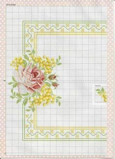 This Pin was discovered by Нат Cross Stitch Borders, Cross Stitch Rose, Cross Stitch Flowers, Cross Stitch Charts, Cross Stitch Designs, Cross Stitching, Cross Stitch Embroidery, Cross Stitch Patterns, Bordado Tipo Chicken Scratch