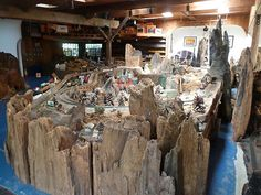 Inside Neil Young's model  train barn, a mini world designed and controlled by him    ( including the technology). (Well Hello, Mr. Soul by David Carr. NY Times, September 19, 2012)