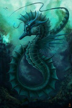 Masked Seahorse by =fshi on deviantART