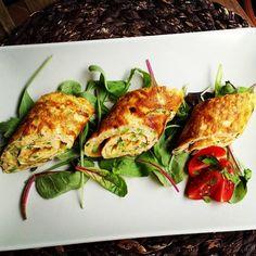 Cukkinis tojáslepény tekercsek Gm&Lm - GastroHobbi Frittata, Zucchini, Gluten Free, Meals, Chicken, Vegetables, Nap, Food, Glutenfree
