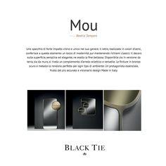 ffc0d525e507 MOU new mirror designed by Beatriz Sempere for BlackTie / Pier Luigi  Frighetto · Lazo Negro, Luigi