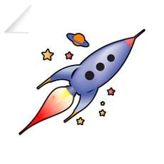 Rocket Spaceship Wall Decal