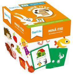 Tutki eläimiä, tunnista värejä, tutustu tunteisiin ja esineisiin. Hauskat kysymyskortit kehittävät pienen lapsen sanavarastoa, hahmotuskykyä ja keskittymistä. Lapsi oppii uusia asioita innostavalla tavalla.   Lapsen on helppo itse tarkistaa oikea vastaus. Jos Yrre-orava osoittaa sormenpäätä kortin takapuolella, on vastaus osunut oikeaan! Lapsen motoriikka kehittyy korttien kanssa leikkiessä kuin itsestään.